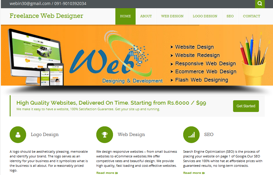Freelance Web Designer Hyderabad