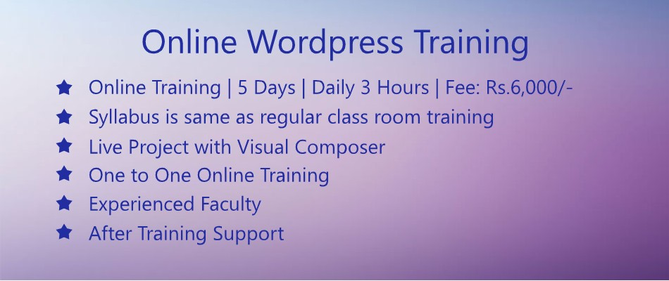 online-wordpress-training
